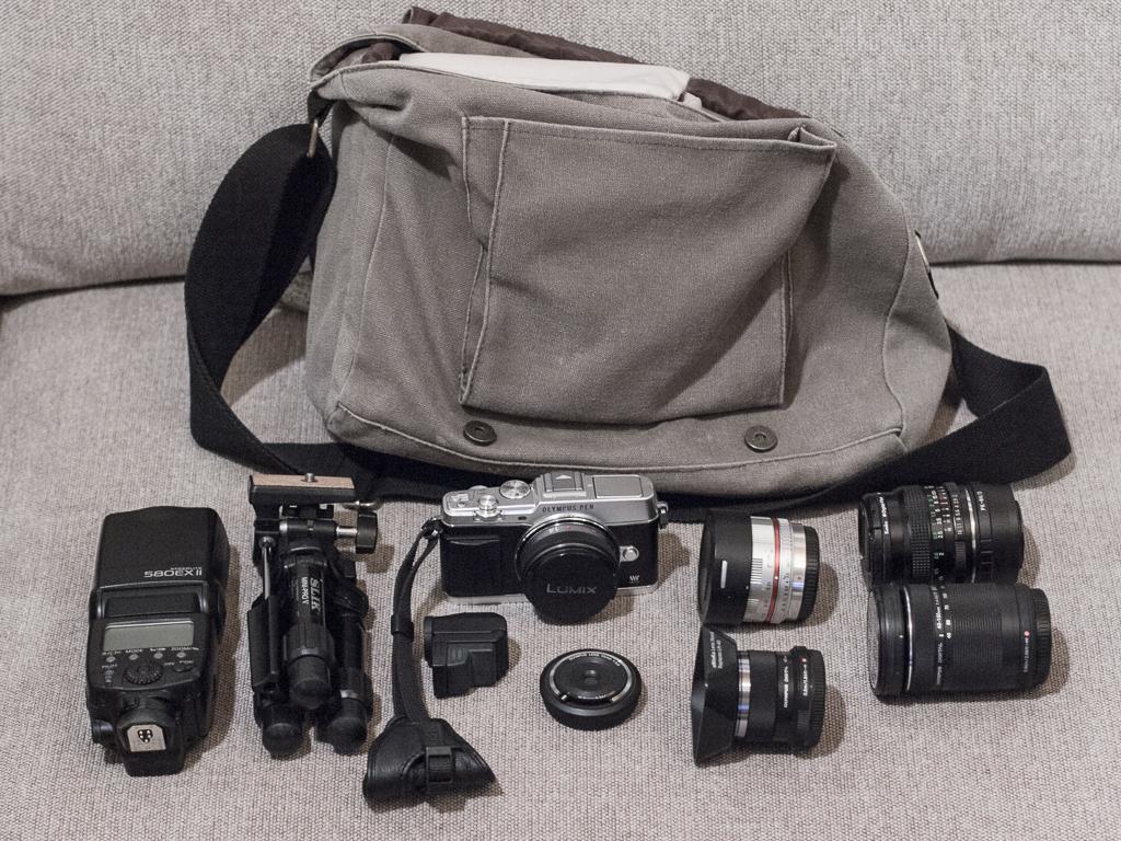Kameralaukun sisältö